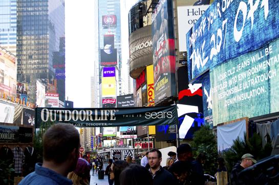 OL Invades Times Square With New Sears Clothing Line