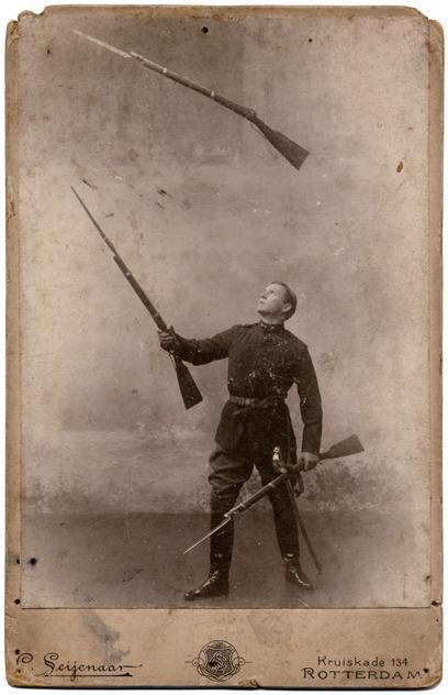 Gun Juggling with Bayonets Fixed