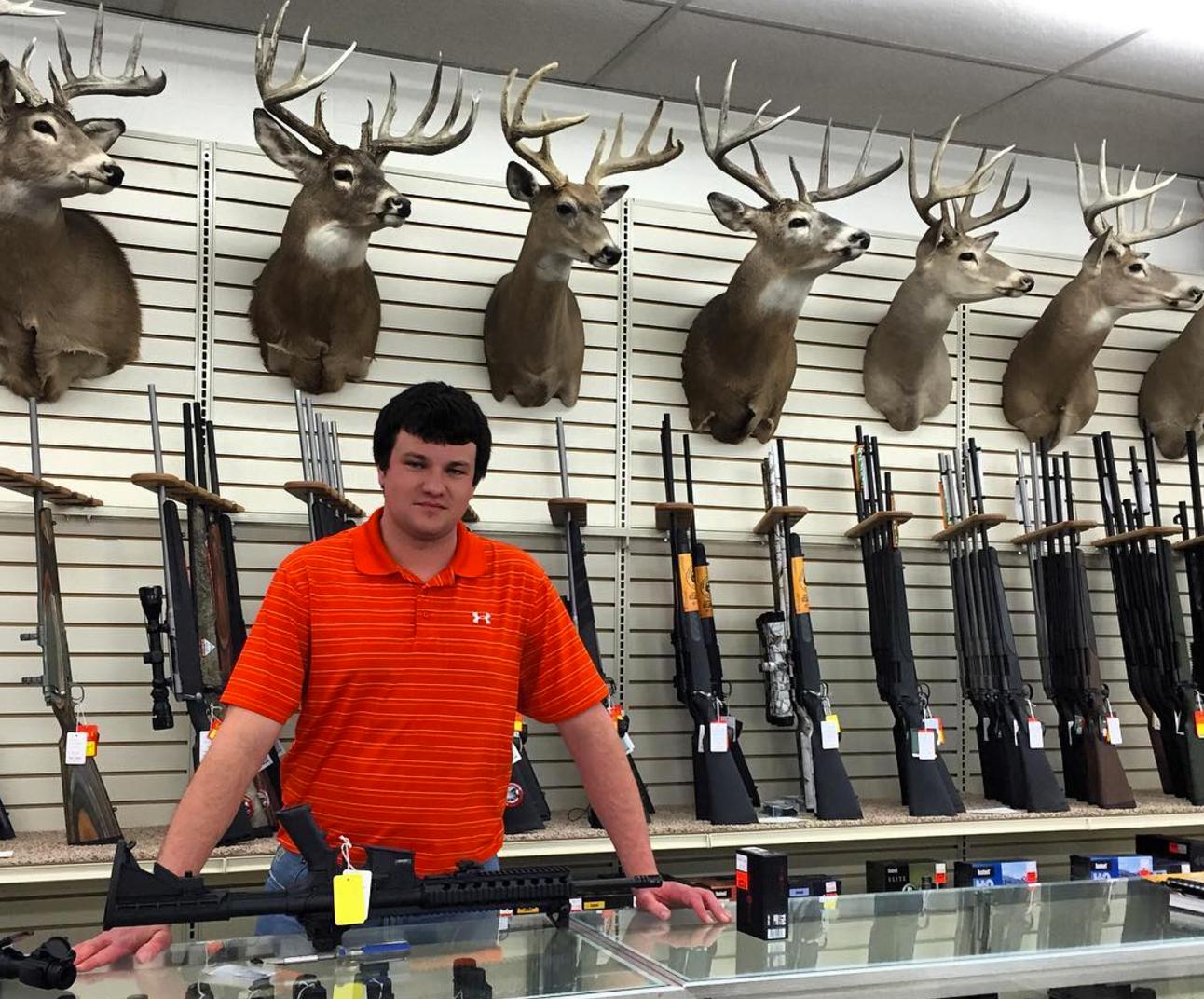 small town gun store clerk