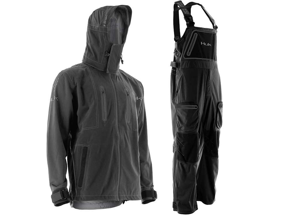 huk all weather jacket bibss