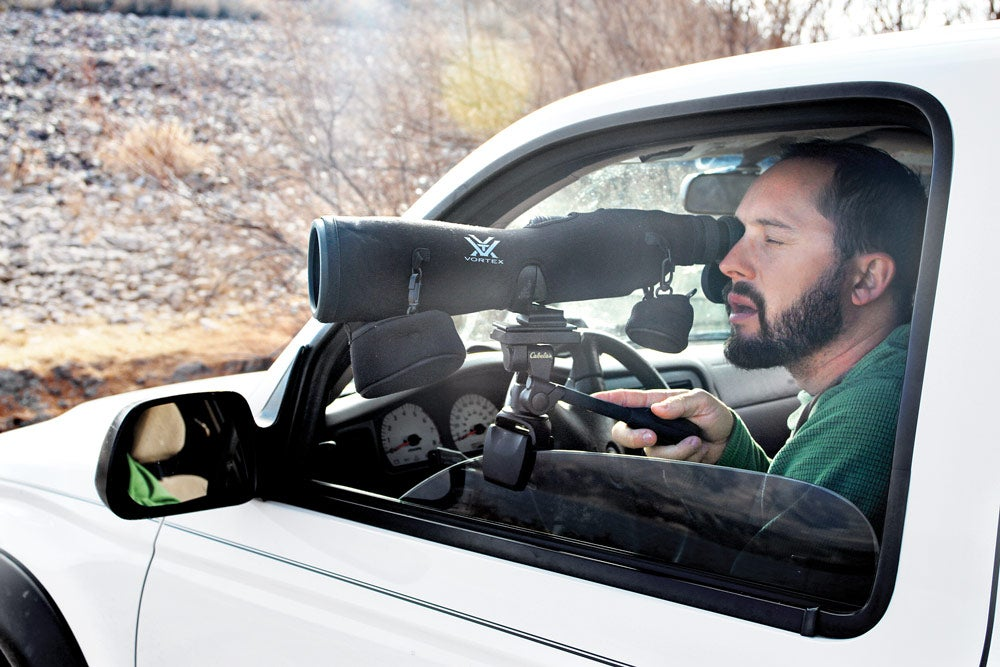 how to use spotting scope scouting