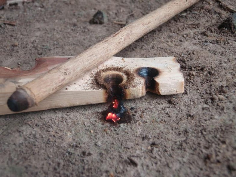 friction fire, bow and drill fire, survival, survival fire, easier friction fire, friction fire tips
