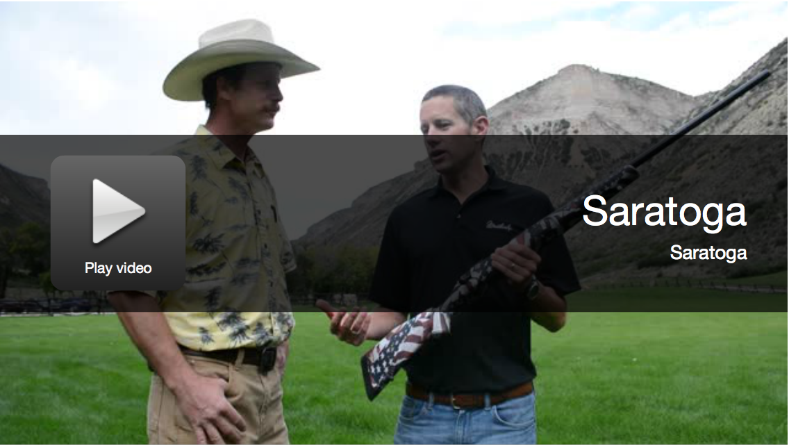 Video: New Weatherby Saratoga American Flag Rifle Pattern