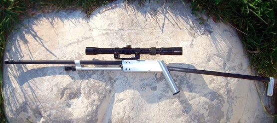 The Mountain View Machine & Welding Pack-Rifle: Gun and Fishing Pole in One