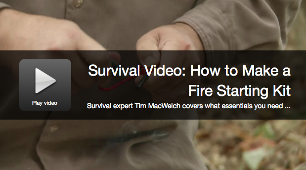 Survival Skills: Build A Fire Starting Kit