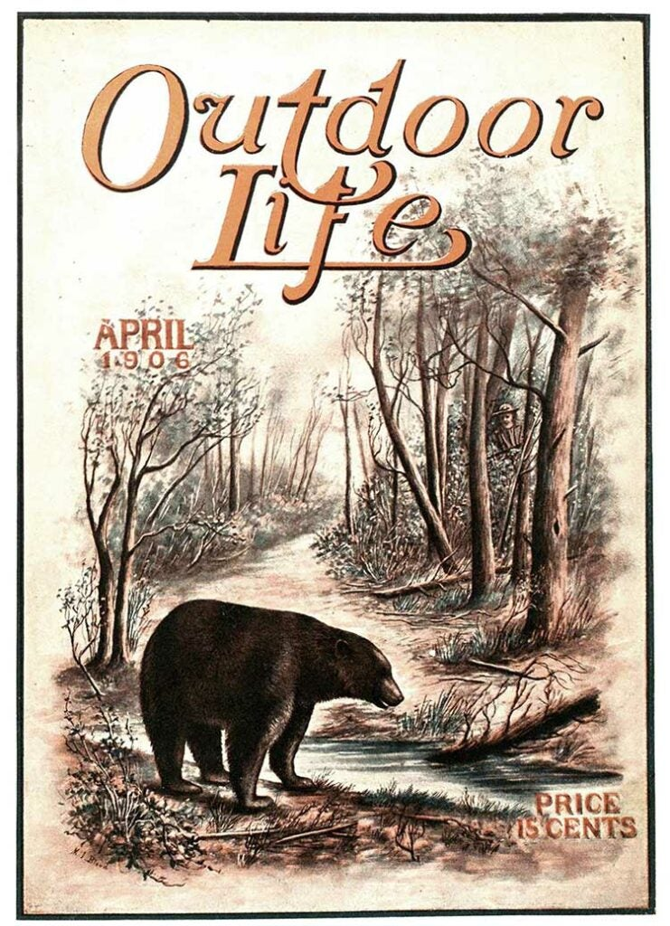 Cover of the April 1906 issue of Outdoor Life