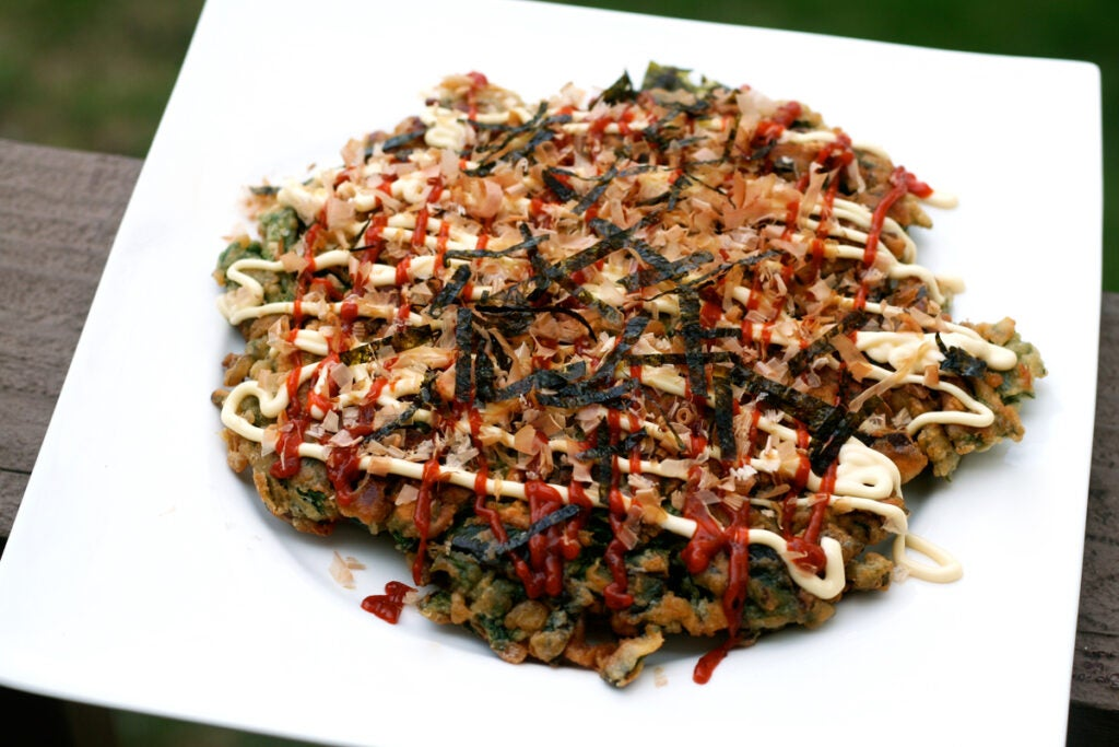 okonomiyaki ramps nettles
