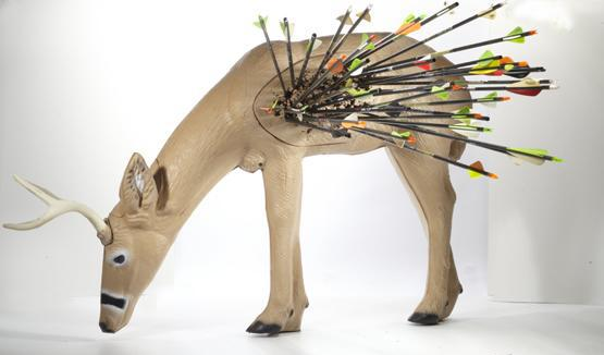 Rinehart Broadhead Buck Target Withstands Torture Test of More Than 1,000 Arrows