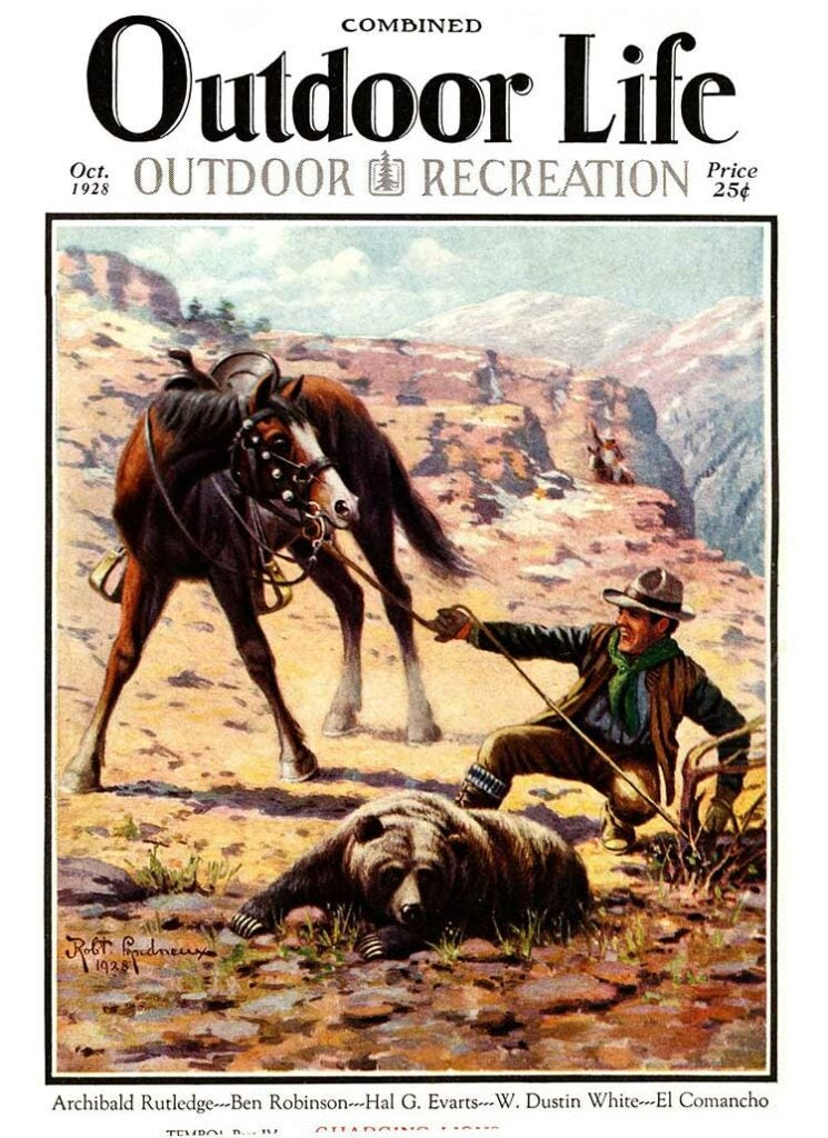 Cover of the October 1928 issue of Outdoor Life