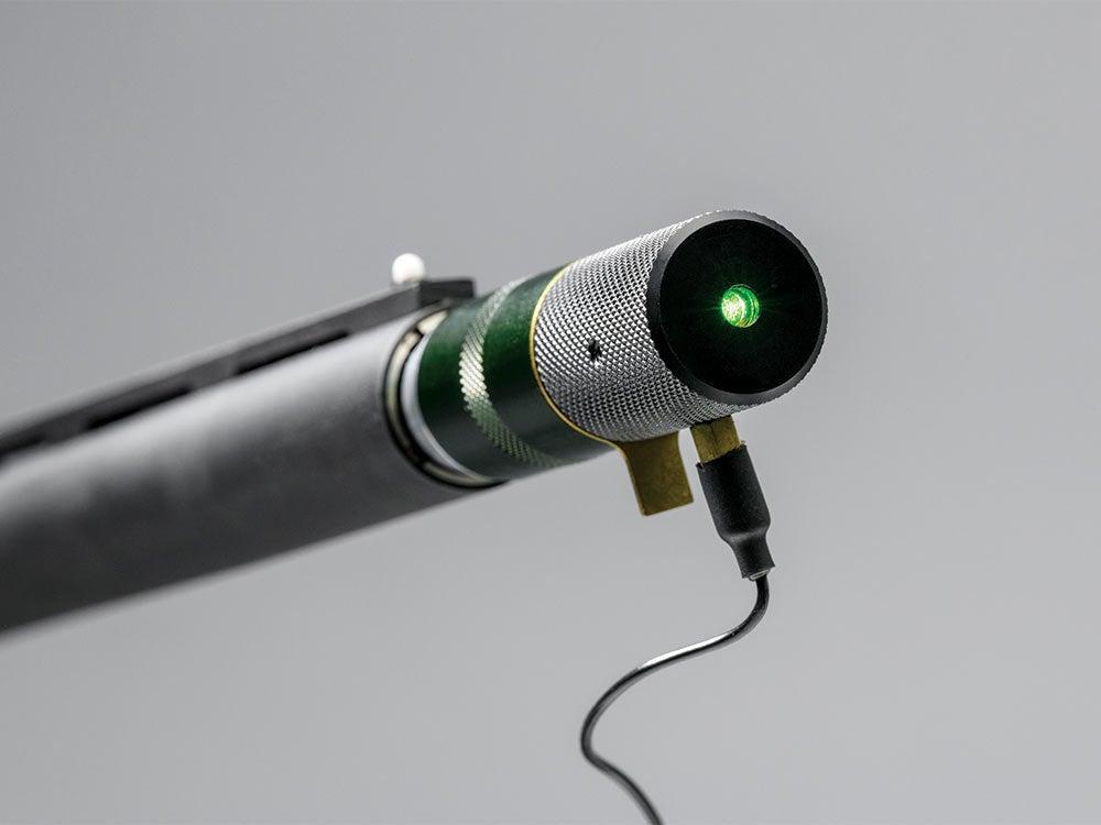 laser training attachment for shotgun