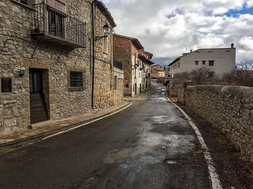 medieval spanish town el maestrazgo