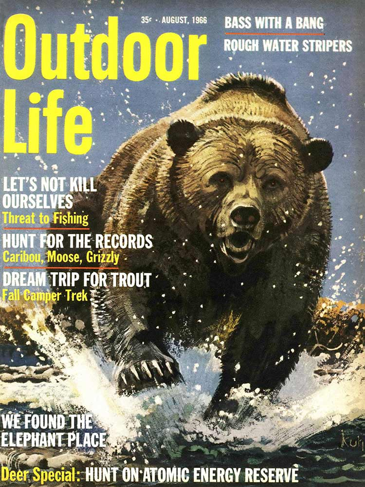 August 1966 Cover of Outdoor Life