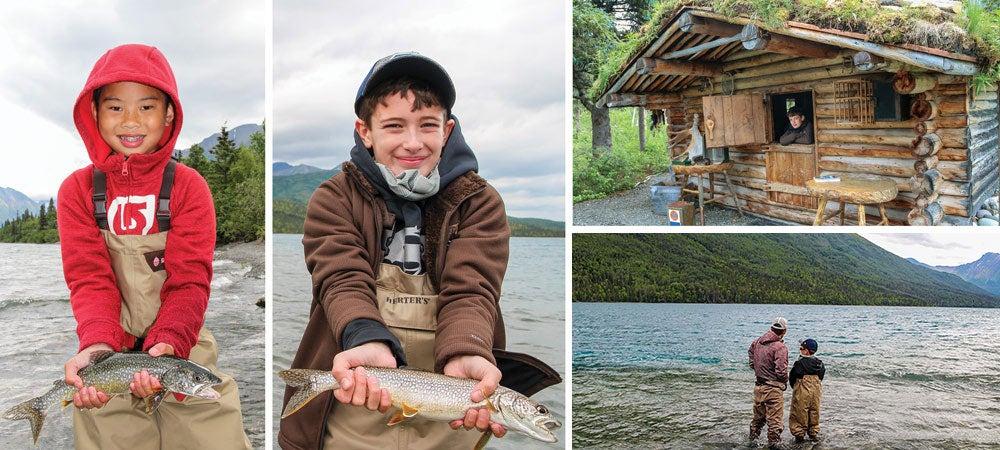 young boys fishing alaska