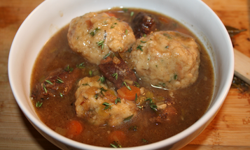 A Recipe for Venison Stew with Bacon and Onion Dumplings
