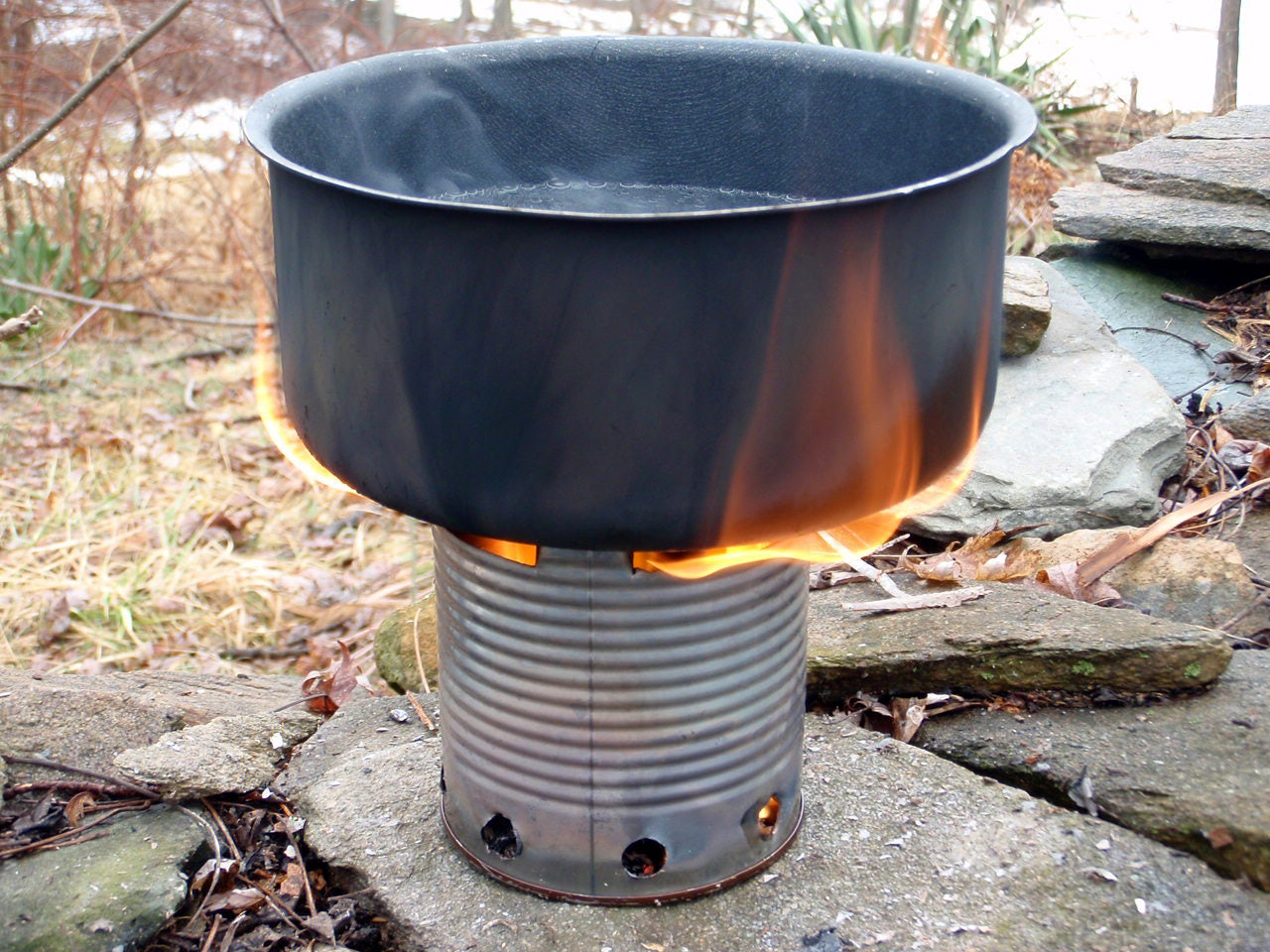 homemade can stove