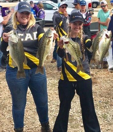 girls bass fishing