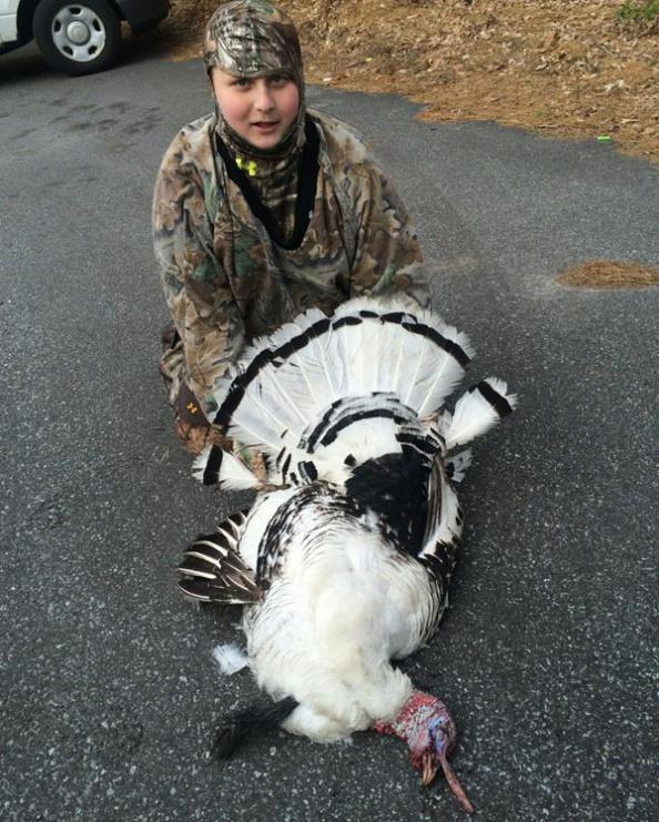 White Gobbler: Kid's First Bird is a Piebald