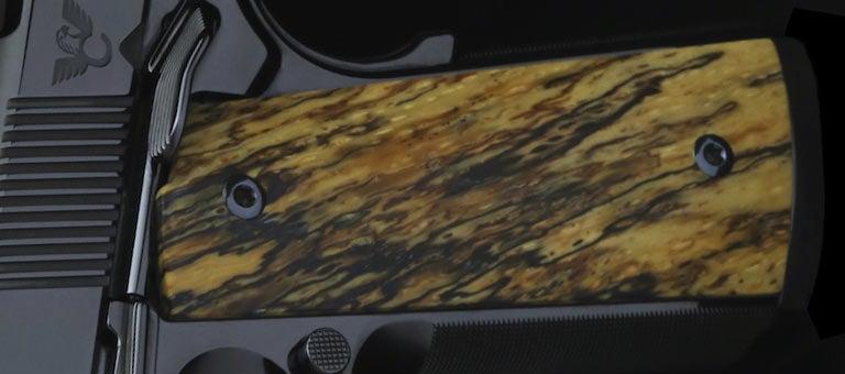 spalted oak custom handgun grip