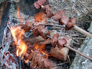 Wilderness Cooking: How to Use Skewers and Spits