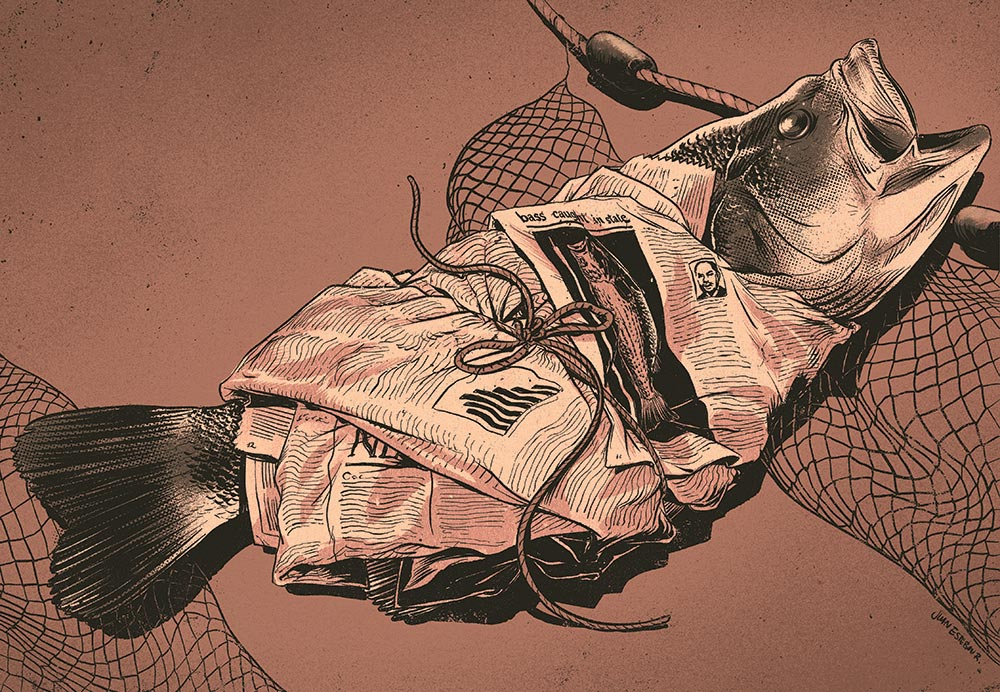 Myster World Record Bass Illustration