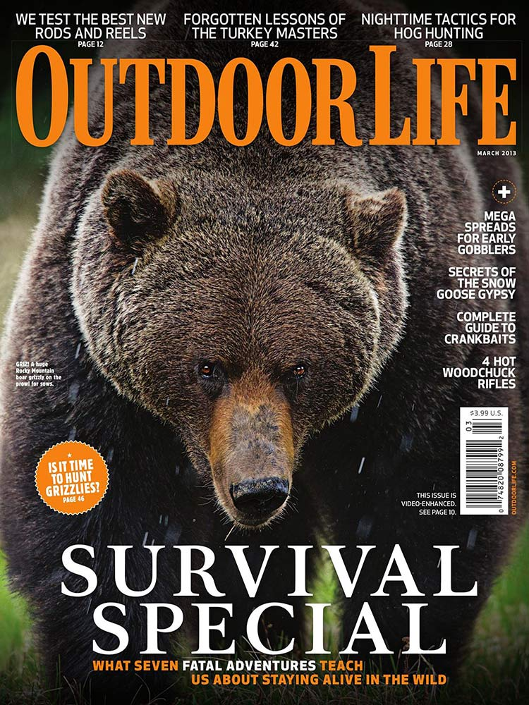 March 2013 Cover of Outdoor Life