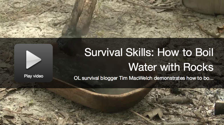 Video: How to Boil Water with Hot Rocks