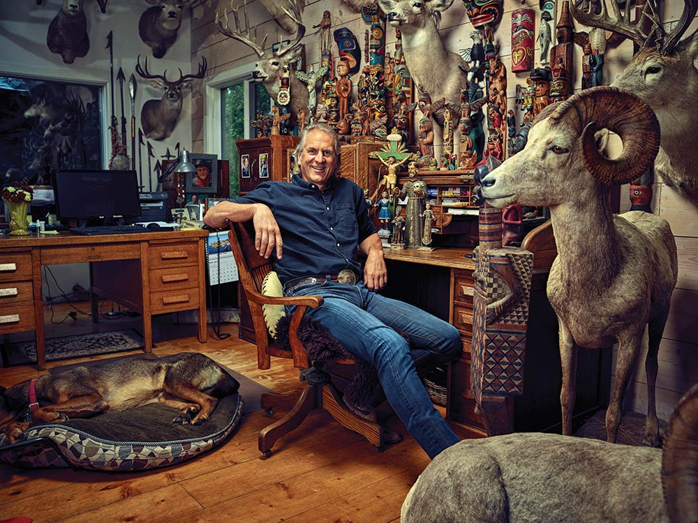 Jim Shockey's collection of artifacts and big-game trophies