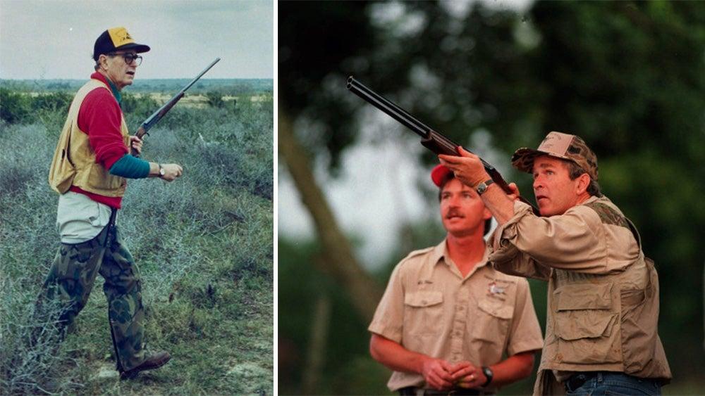 presidents hunting, george bush, george hw bush, george w bush, guns, presidents