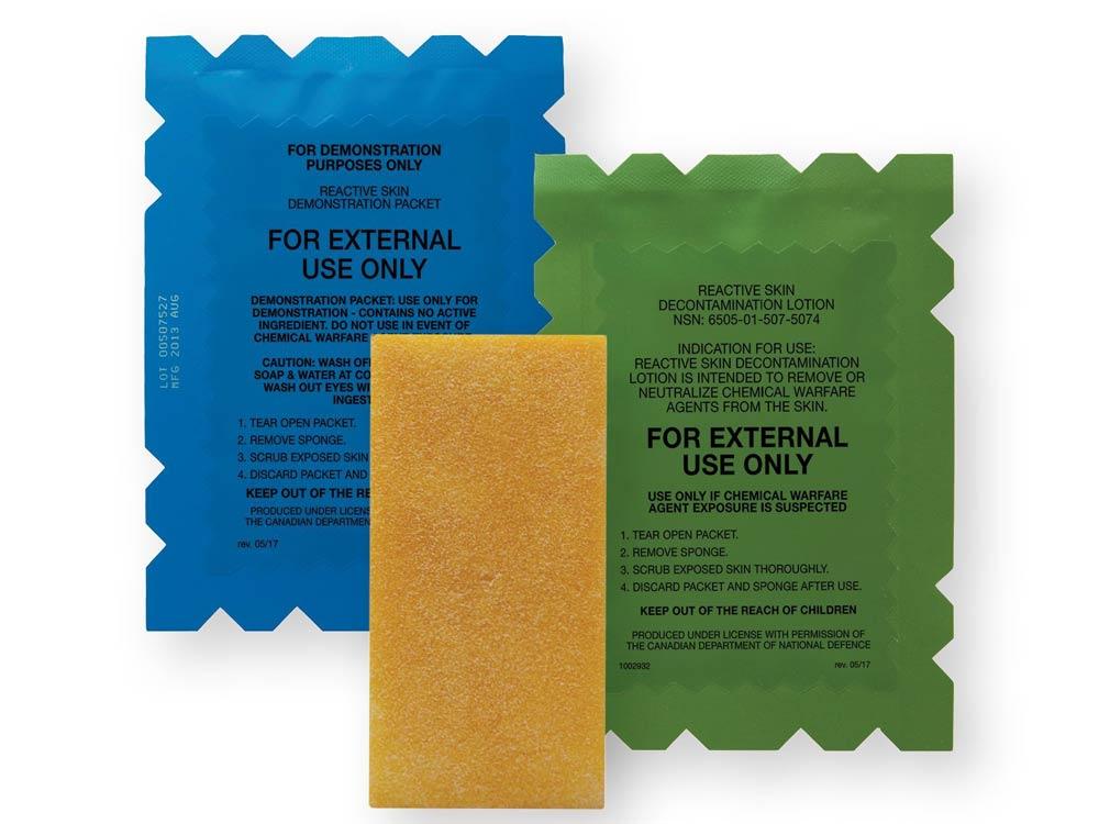 reactive skin decontaminate lotion kit