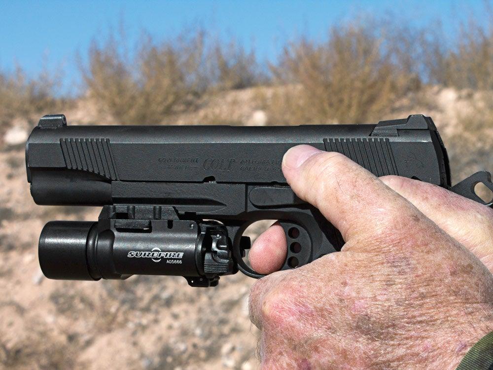 Weapon-mounted flash light
