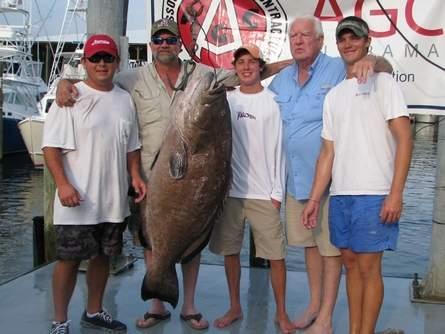 Angler Lands 106-Pound Black Grouper, Potential Alabama State Record