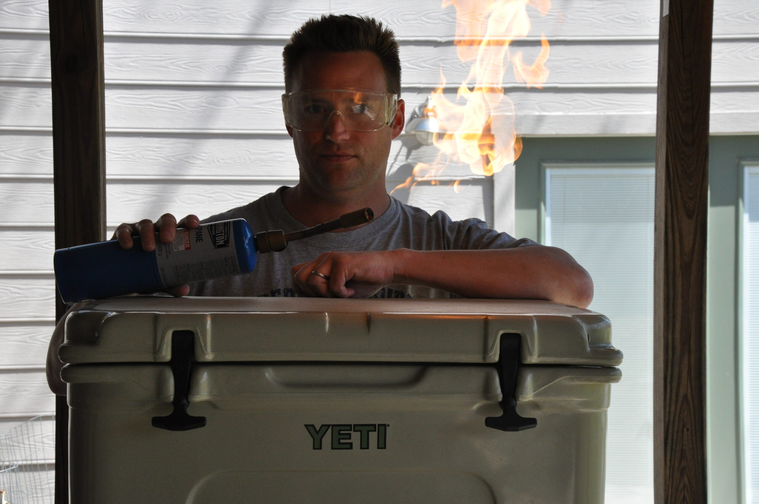 Gayne Tries to Kill the Smell in his Ice Chest