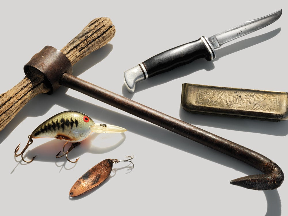 Collection of found hunting items