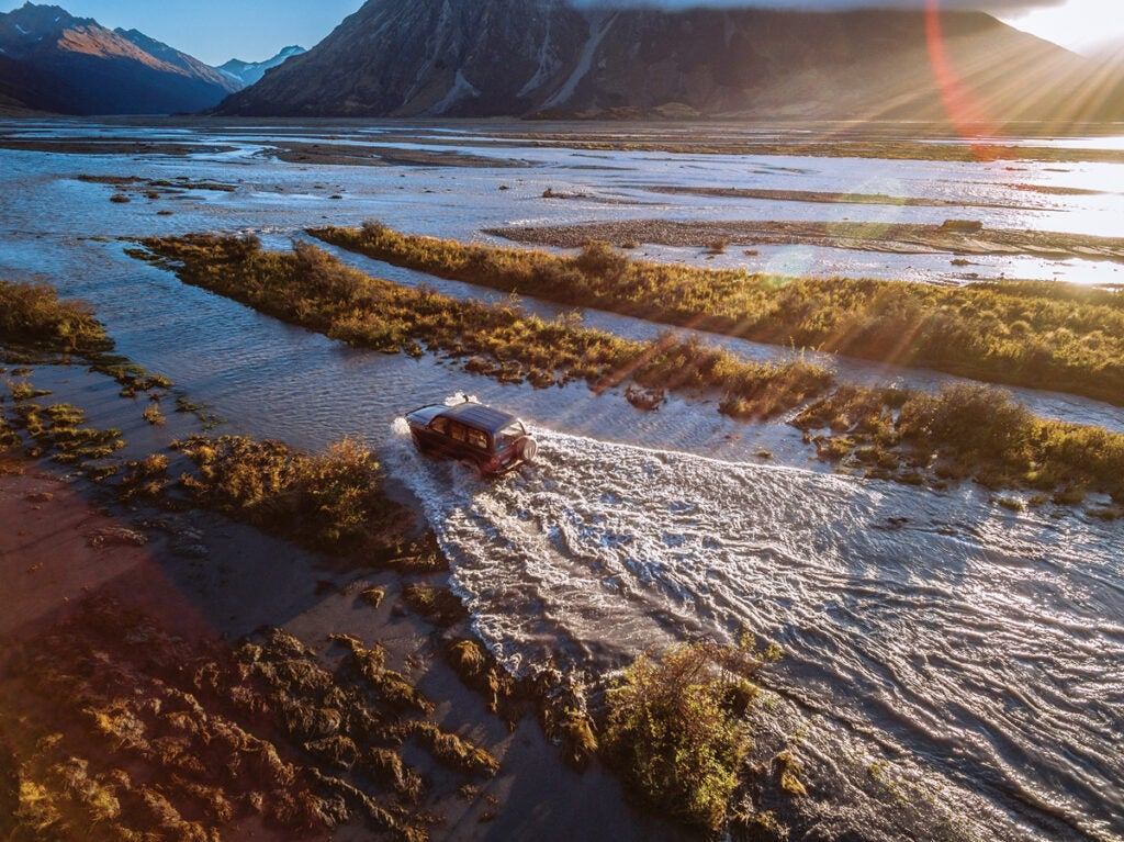 driving new zealand river bed