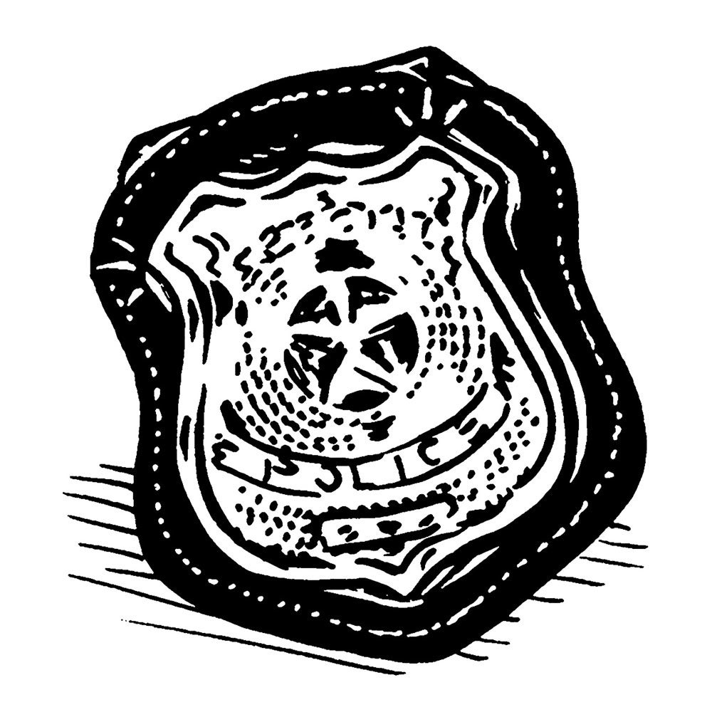 Police badge illustration