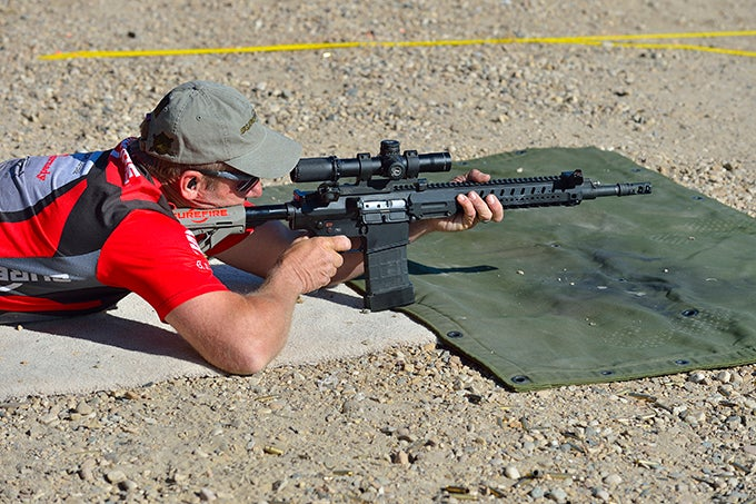 shooter lying on ground