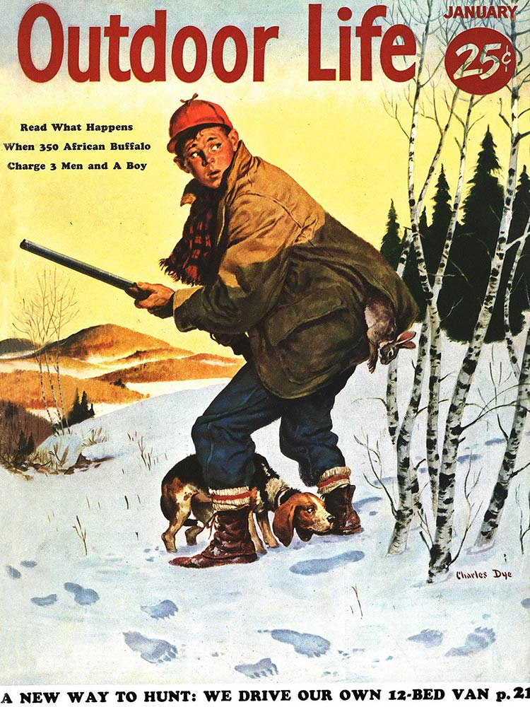 January 1955 Cover of Outdoor Life