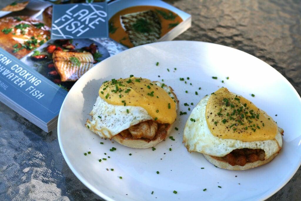 catfish eggs benedict
