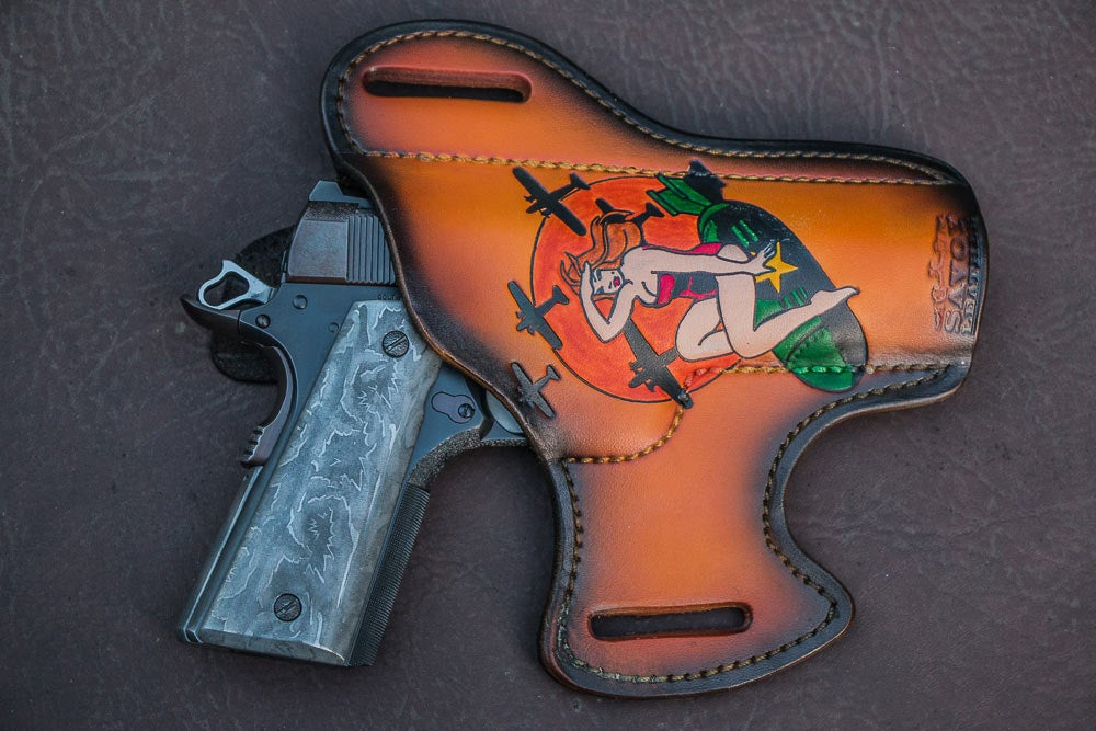 Savoy Leather custom handgun holster