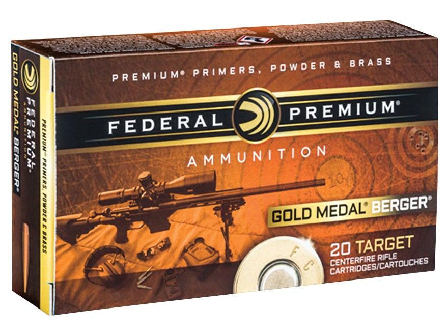 Federal Premium Gold Metal Berger ammunition