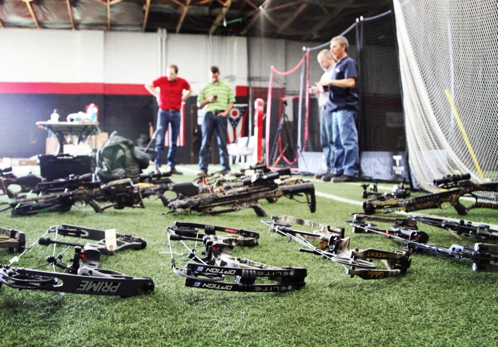 testing compound and crossbows indoors
