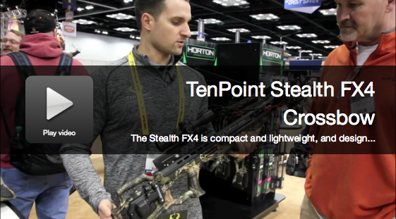 New Crossbow: TenPoint Stealth FX4