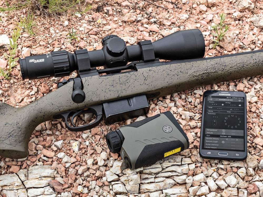 sig sauer sierra3 bdx scope attached to rifle