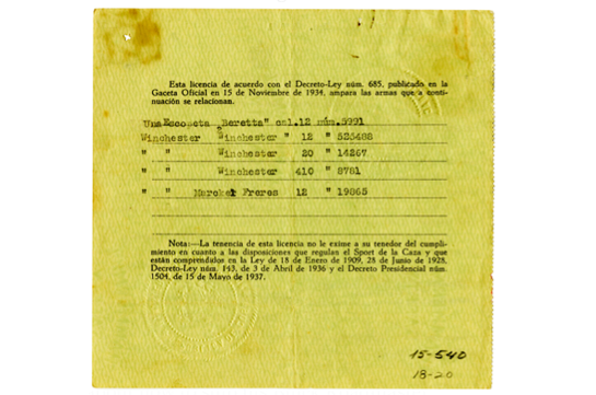 Hemingway's Gun Permit and Thousands More Documents Now Available at JFK Museum