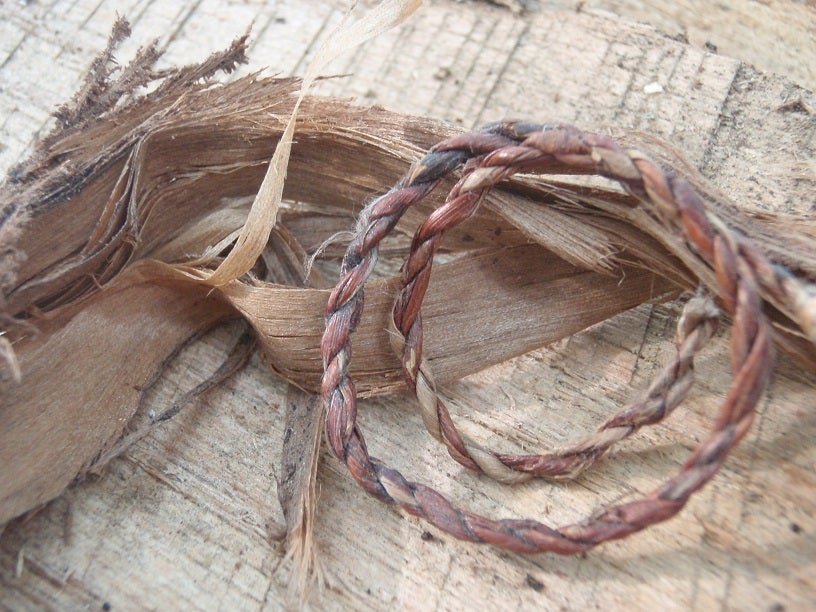 homemade cord, leather cord, tape cord, cloth cord, survival skills, make your own cord, cord materials