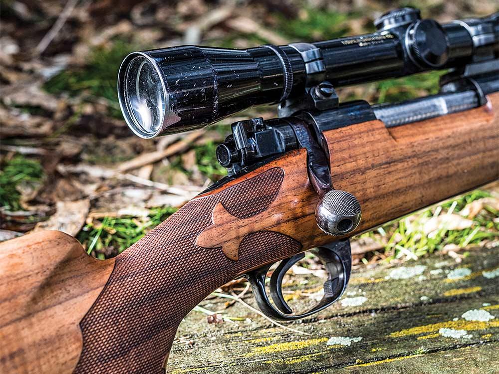 rifle no 2 checkered fleur de lis stock