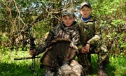 13-Year-Old Bowhunter Takes His First Turkey