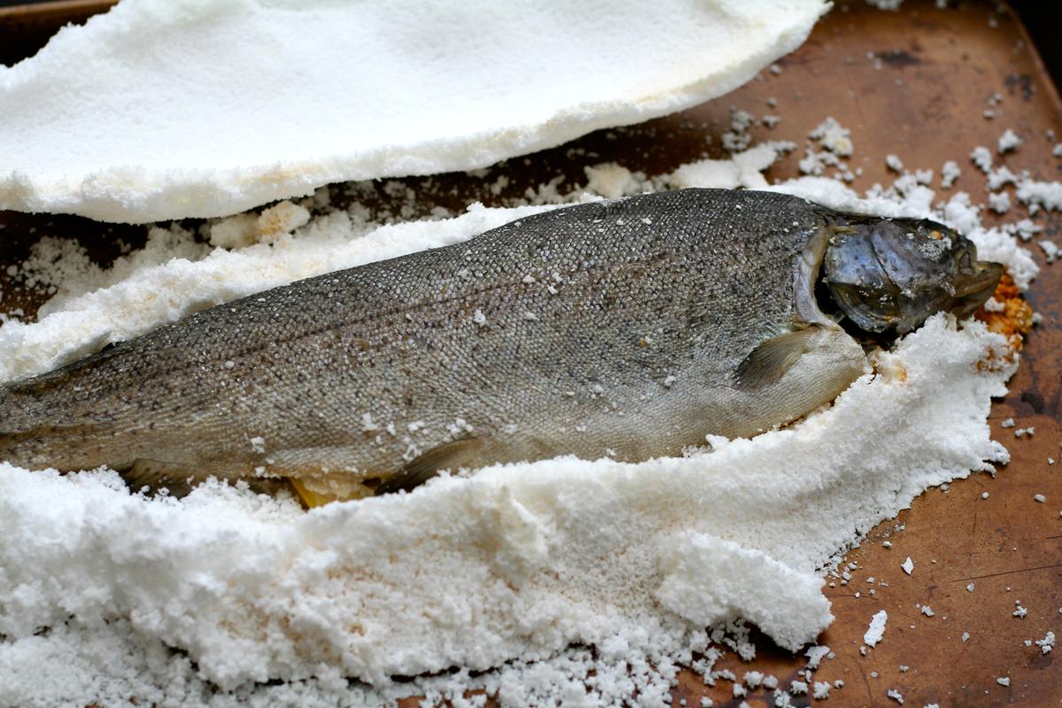 crusted fish