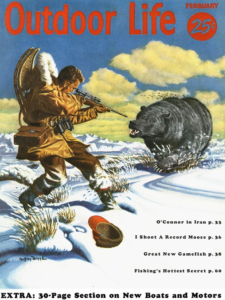February 1956 Cover of Outdoor Life