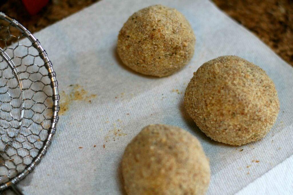 wild turkey arancini rice balls